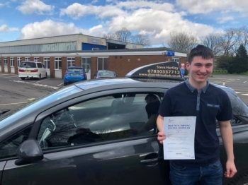 Aaron Duncan passes his driving test 1st time with Direct Drive Hub.