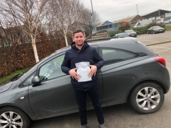 Carl Cook passes his driving test 1st time with Direct Drive Hub.