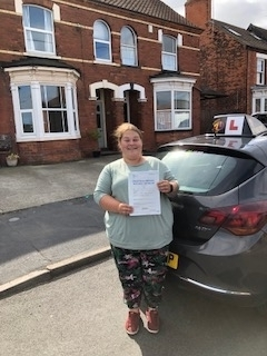Lucy passes her driving test with Direct Drive Hub here at Barton upon Humber